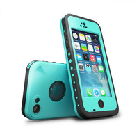 Waterproof case For Iphone 5C Shockproof Dirt Snow Proof Durable Case Cover Glass Blue