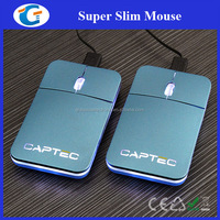 Laptop Accessaries USB Optical Pocket Mouse With Laser Logo