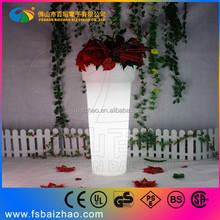 LED Lighting Planter/LED Flower Pot for decoration weeding/hotel