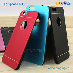 Fashion mobile phone accessory aluminum pc case for iphone 6 protective case