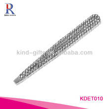 Wholesale Custom Logo Crystal Slant Tip Tweezers For Promotional Gift