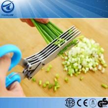 high quality kitchen hand tools,5 blades herb scissors