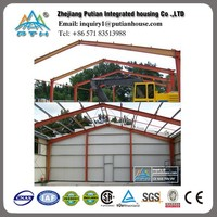 Pre engineered steel frame structure workshop