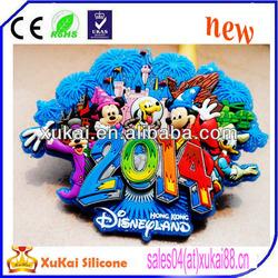 custom silicone fridge magnet 2D/3D pvc souvenir fridge magnets