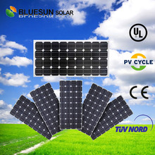 Bluesun factory supplier top performance monocrystalline 100w solar panel output