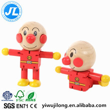 wooden bread superman puppet ever changing educational cartoon toys