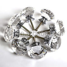 Crystal door handle diamond knobs clear optical k9 crystal