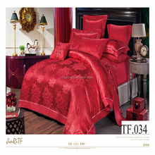 100% cotton european jacquard silk bed set luxury weding 3d embroidery girls twin bedding sets cheap cute comforter bedding set