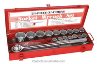 Cr-Mo hexagon 12pt Heavy Truck 21pcs socket tool set