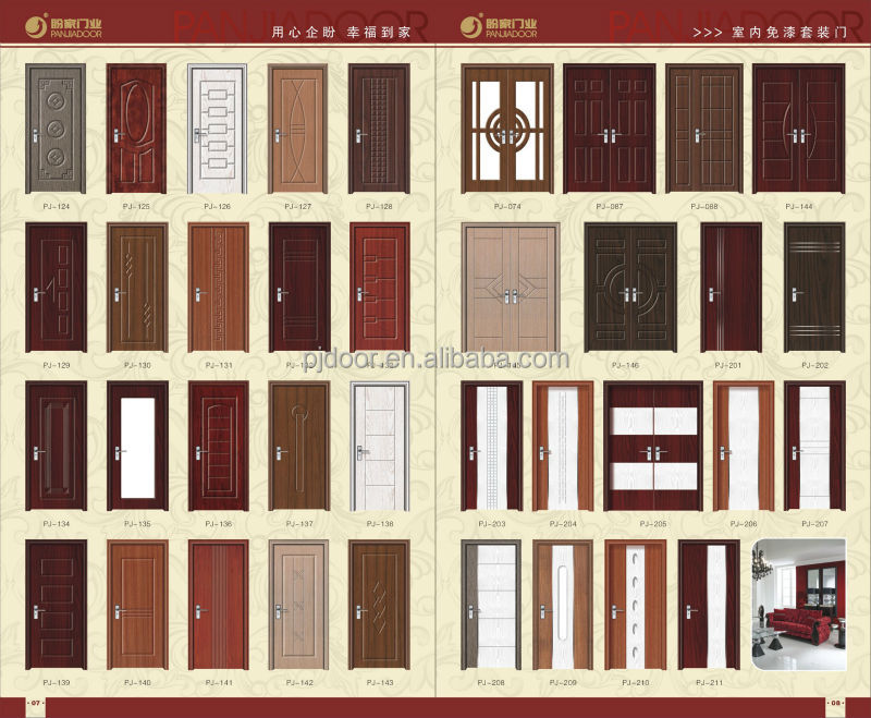 Latest Design Safety Wooden Door Interior Door Wpj52 Buy