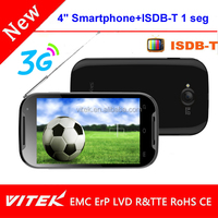 """Hot selling 4"""" Dual core Smartphone with ISDB-T mobile phone with tv out function"""