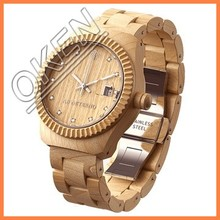 China manufacture popular environmental wood watch with calendar