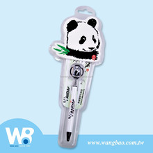 Swing panda figure plastic ball pen and notepad set