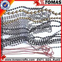 Guangzhou custom flower long silver ball chain