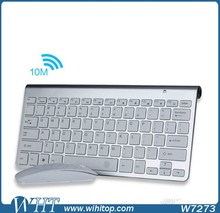 2.4G Ultra Slim Mute Wireless Flexible Cheap Keyboard and Mouse Kit Cheap Fashion Kit Easy Carry