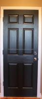 6 Panel Veneered Wood Door Leaf and Frame
