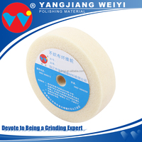 Contemporary wool buffing pad