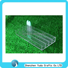 factory direct price small bar type acrylic e-liquid tray counter top pmma display rack for e-cig juice liquid vapor bottles