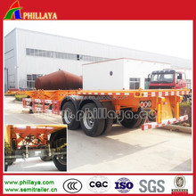 2015Top Ranking 2-3Axles 20-40ft Trailer /Container Semi Truck Skeleton Trailer Chassis for Exporting