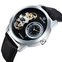 Custom watch 2015 SKONE mens visible mechanical watch for OEM