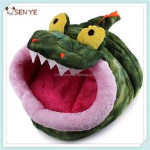 Foldable crocodile shaped dog house dog bed