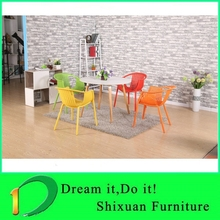 wholesale four wood legs coffee table set chairs