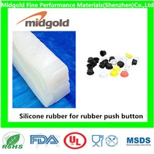 Silicone rubber for rubber push button keypad button