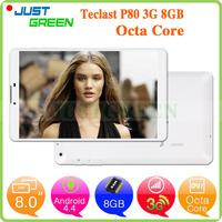 Original Teclast P80 8inch 1280*800 Octa Core 64bit 1GB 8GB pc tablet Android 802.11b/g/n dropshipping