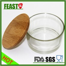 2015 New style glass containers for candles Hot selling glass jar High borosilicate glass jar