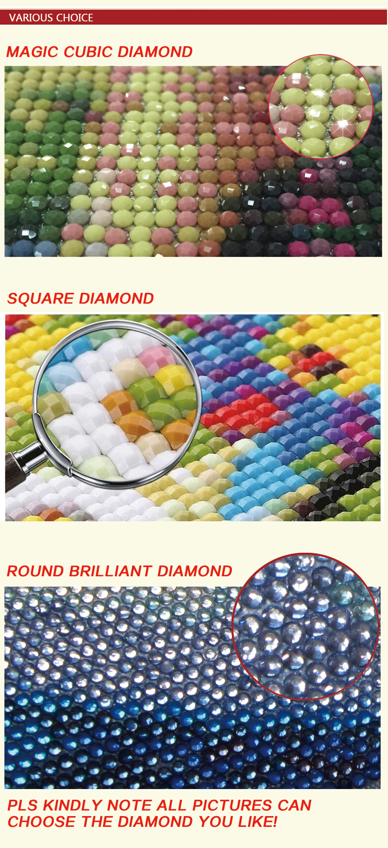 GZ142 love photo framed 2.5mm round diy diamond painting kit