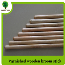 Chinese broom stick eucalyptus wood varnished mop handle