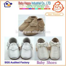 Suela suave bebé zapatos de cuero metálico moq 200/mix 3 diseños/4 tamaño