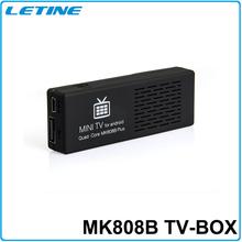 La mejor venta MK808B más Amlogic M805 Quad Core Android 4.4 Mini PC elegante de Google TV Dongle del palillo 1 GB 8 GB barato inteligente Android TV BOX