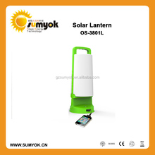 Factory wholesale new designed 12 pcs led lamp rechargeable solar LED lantern with cellphone charger