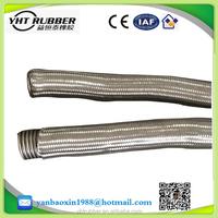 acid & alkali resistant flexible stainless steel metal hose pipe 700mm