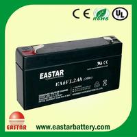 Rechargeable Lead Acid Battery 6V 1200mAh for Lighting backup