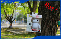 2015 Hot sale Hight quality 10000mah Disney's Big Heros 6 Baymax Cartoon Plastic 10000mah manual for power bank battery charger