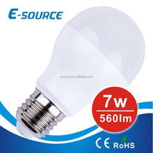 Excellent quality 7W/9W A55/A60 LED light bulbs E27 good price top sale SMD5730 led bulb