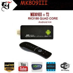 Hgh quality MK809III Kodi and XBMC loaded android digital stream tv stick