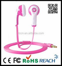 Flat wire headset with colors for choice