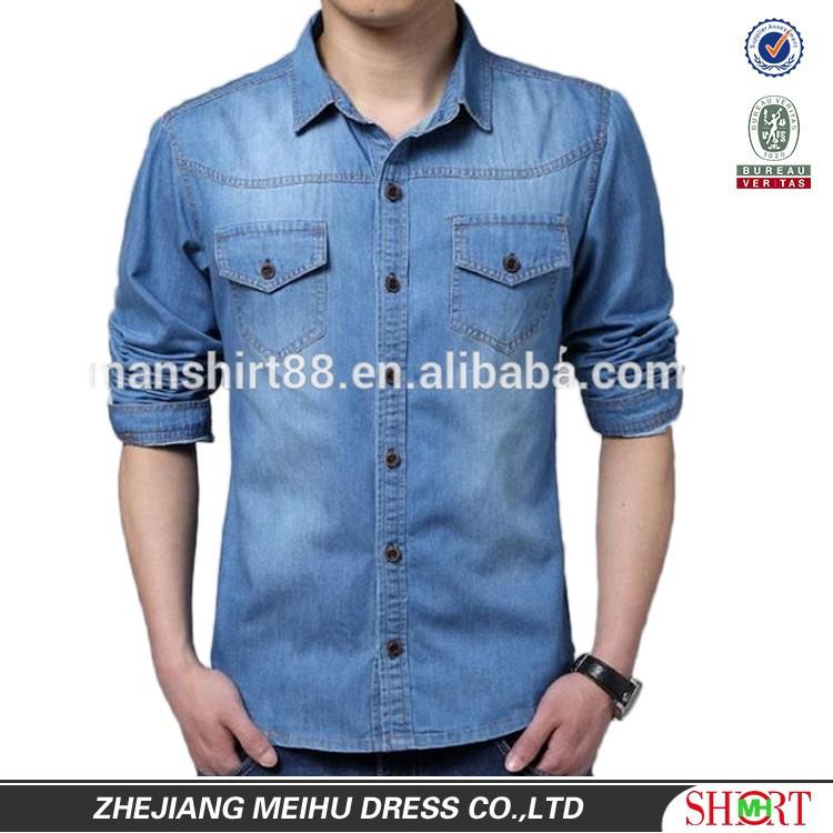 Casual Jeans Shirts For Men Men Denim Casual Shirt
