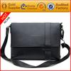 Famous brand hand-made leather shoulder black small bag for men