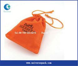Popular velvet pouch with custom pattern and logo