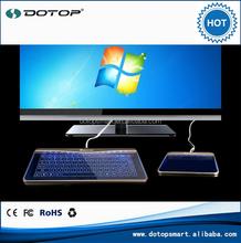 Portable blue backlight illuminated waterproof keyboard,LED blue backlight Wired Multimedia laptop keyboard
