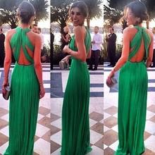 Women Chiffon V-Neck Backless Sleeveless Maxi Elegant Chiffon Evening Dresses Long Dresses For Women SV019218