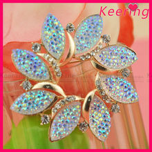 wholesale cheaper AB color rhinestone gold plated fashion jewellery brooch brooch WBR-1418