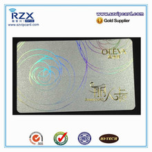 R&X hologramme card, silver membership card for beauty industry