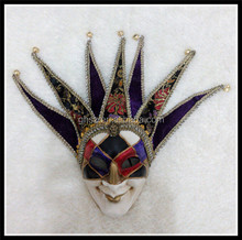 Customized vintage Venice seven horn mask funny clown face mask for halloween party