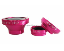 Magnetic 4in1 Fish eye+Telephoto+Wide Angle+Micro Lens for iPhone 5 5S 4 4S
