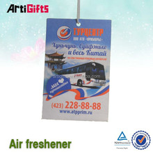 New promotional products black ice flavor paper car air freshener